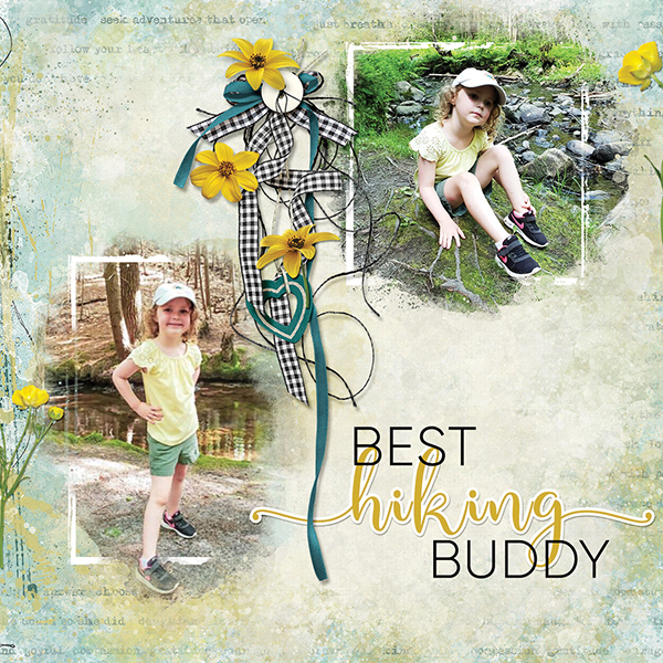 """""""Best Hiking Buddy"""" digital scrapbooking layout using Summer Reverie Collections"""
