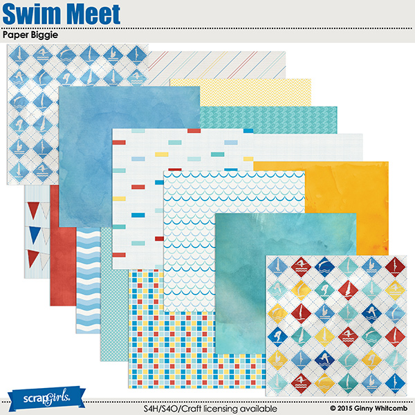 Swim Meet Collection Biggie Paper