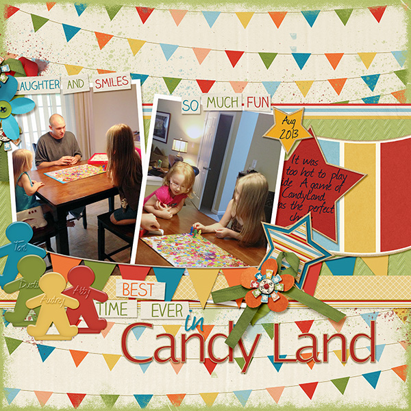 """Candyland""  layout featuring Value Pack:  Time To Play"