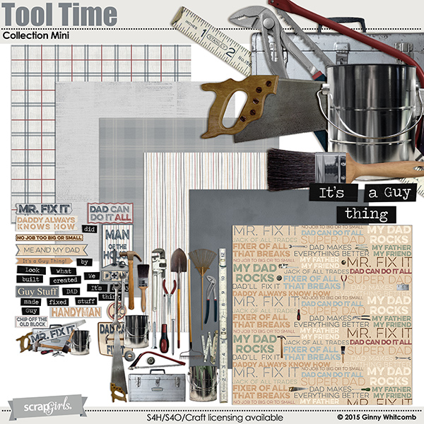Tool Time Digital Scrapbooking Collection
