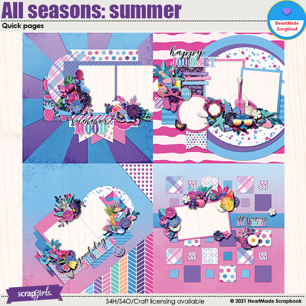 All seasons: summer - quick pages by HeartMade Scrapbook