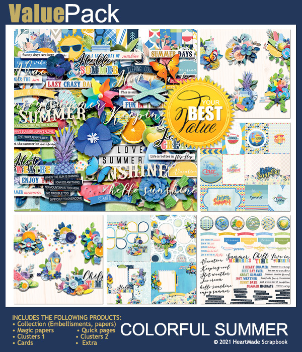 Value pack: Colorful summer by HeartMade Scrapbook
