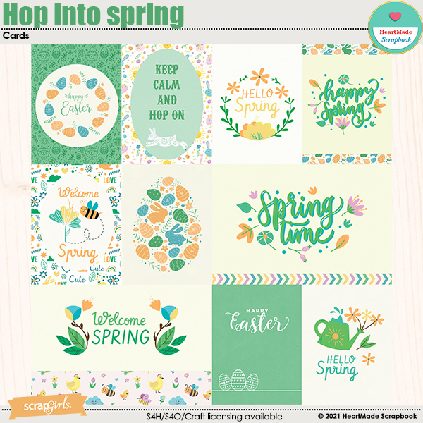 Hop into spring - cards by HeartMade Scrapbook