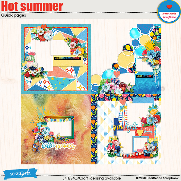 Hot summer quick pages by HeartMade Scrapbook