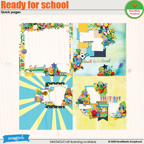 Ready for school - quick pages by HeartMade Scrapbook