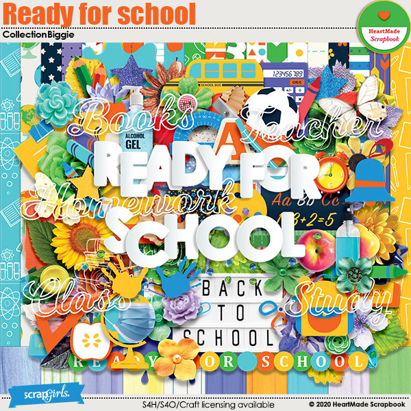 Ready for school - collection biggie by HeartMade Scrapbook