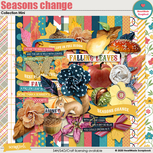 Seasons change collection mini by HeartMade Scrapbook