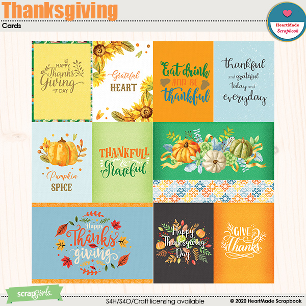 Thanksgiving - cards by HeartMade Scrapbook