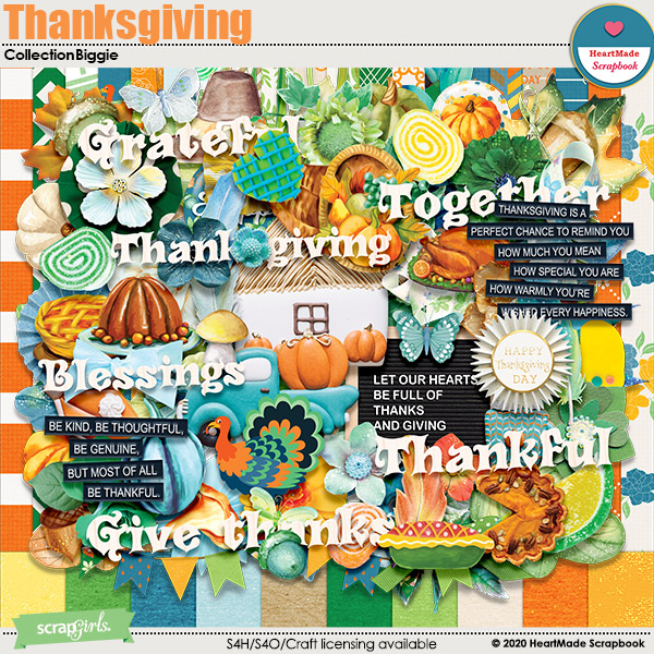 Thanksgiving - collection biggie by HeartMade Scrapbook