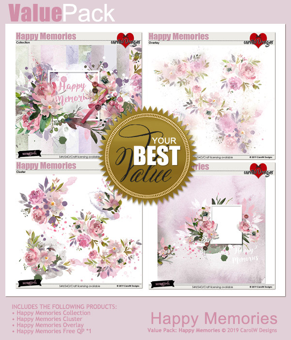 ScrapSimple Digital Layout Collection:Happymemories