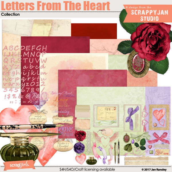 Letters From the Heart Collection created by Jan Ransley