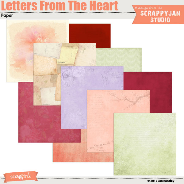 Letters From the Heart papers created by Jan Ransley
