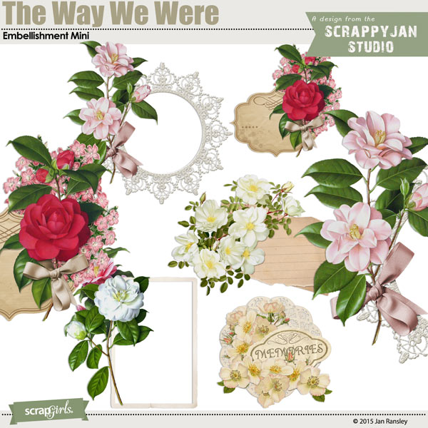 The Way We Were Embellishment Mini by Jan Ransley