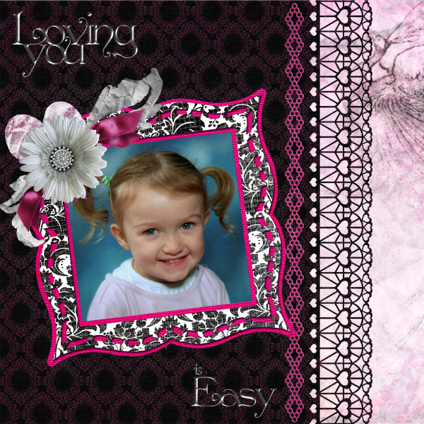 Digital Scrapbooking Layout by Jan Ransley (product supply list and links below)
