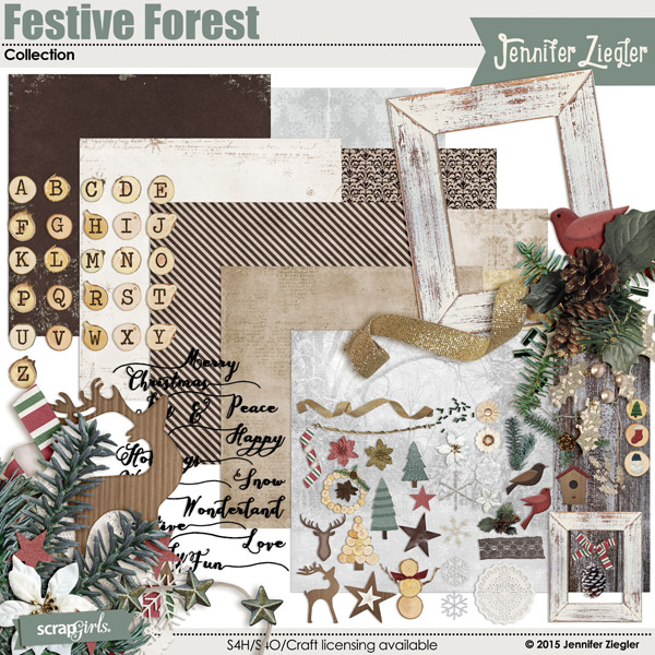 Festive Forest Collection, by Jennifer Ziegler