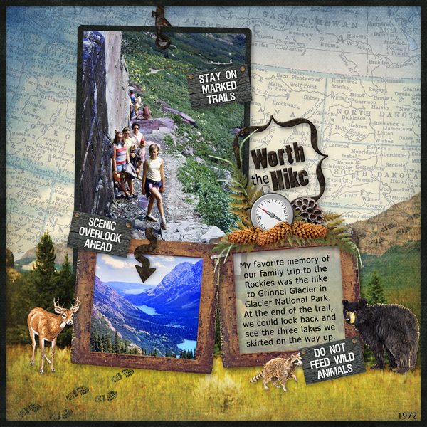 Digital scrapbooking layout by Sue Maravelas