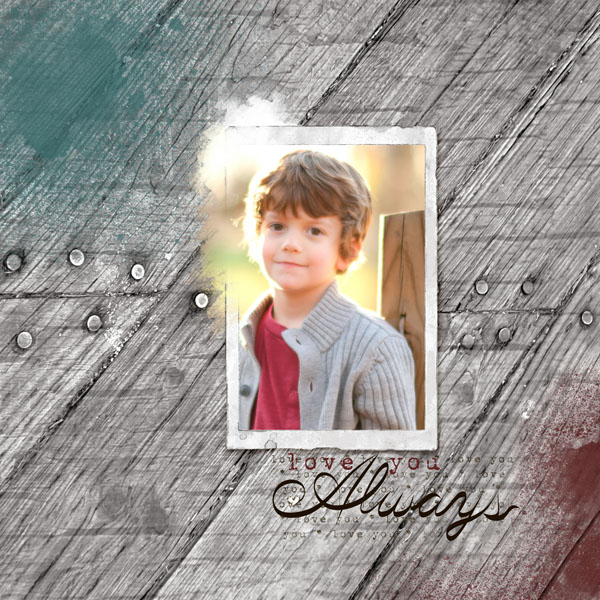 """""""Always"""" by Jennifer Ziegler, featuring ScrapSimple Embellishment Templates - Out of Bounds Frames"""