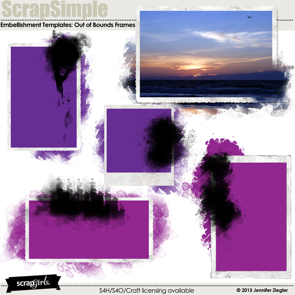 ScrapSimple Embellishment Templates - Out of Bounds Frames