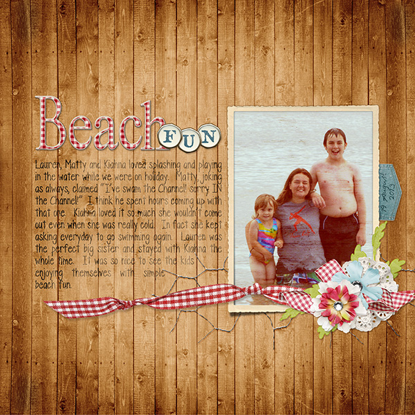 Digital scrapbooking layout by Valerie Tuffrey