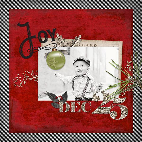 """Joy"" digital layout by Keri Schueller"