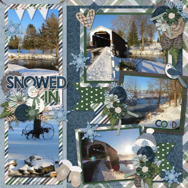 CT Layout using Life Chronicled: Winter Blues by Connie Prince