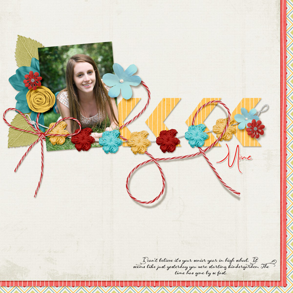 """Mine"" layout by Angie Briggs"