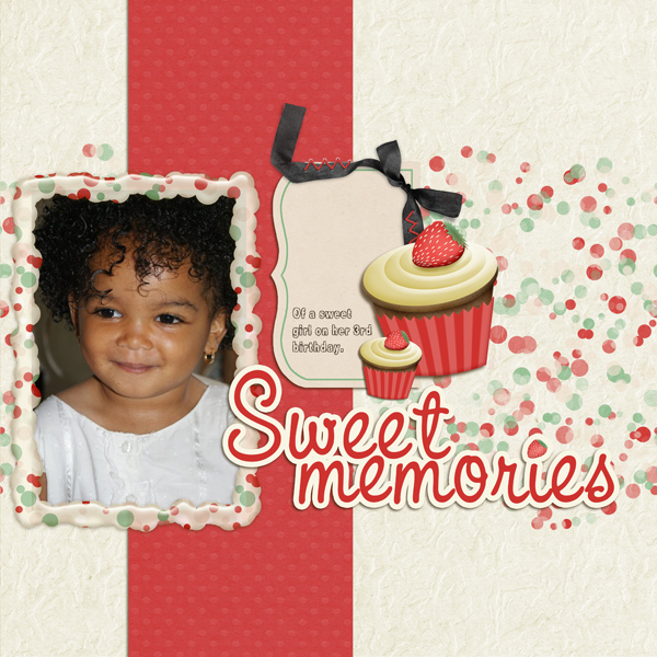 """Sweet Memories"" layout by Angie Briggs"
