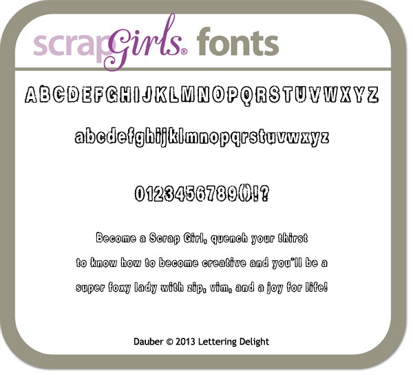 also available Lettering Delights Dauber Font