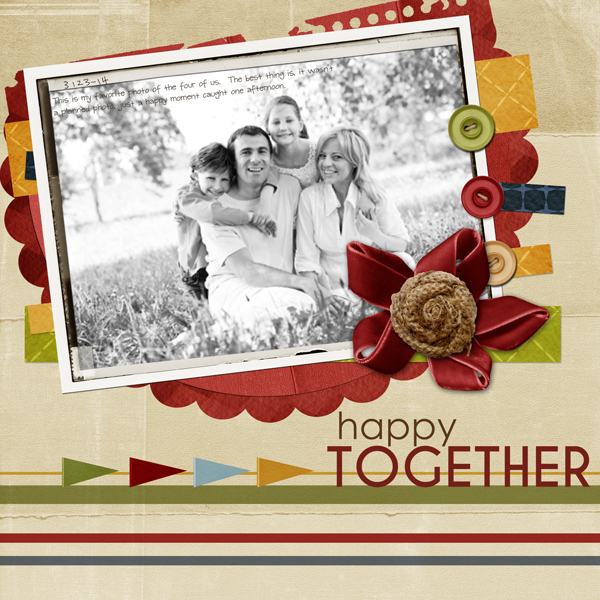 """Happy Together"" layout by Angie Briggs"