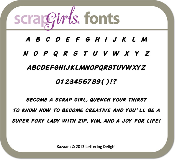 also available Lettering Delights Kazaam Font