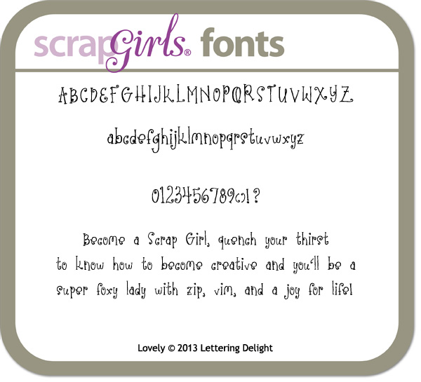 also available Lettering Delights Lovely Font