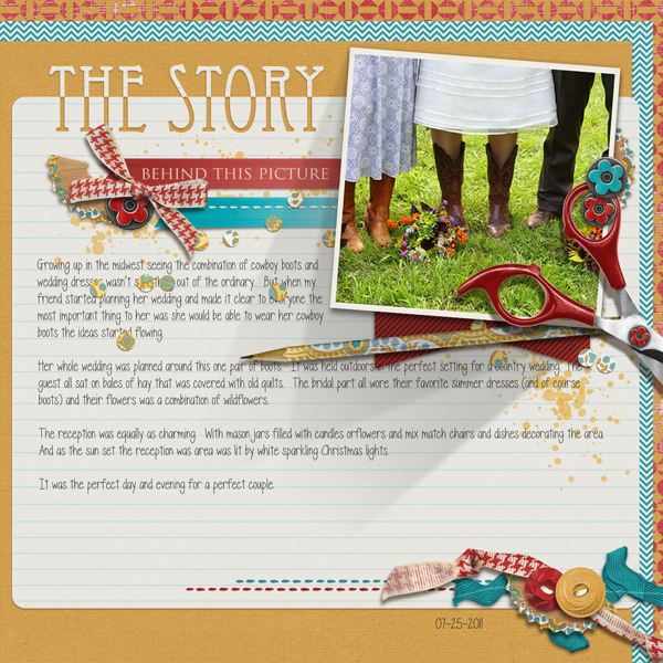 """The Story"" layout by Angie Briggs"