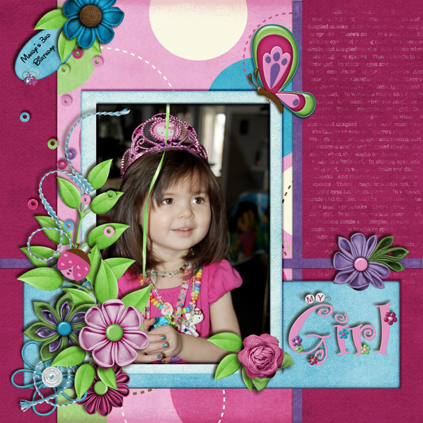 """My Girl"" Digital Scrapbook Layout by Laura Louie"