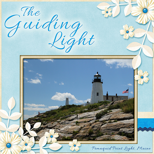 """The Guiding Light"" Digital Scrapbook Layout by Laura Louie"