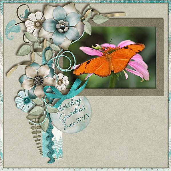 Beautifully-embellished layout created with Serene Moments Collection Biggie