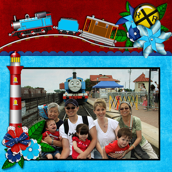 Digital Scrapbook Layout by Laura Louie