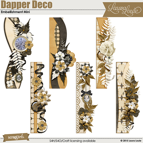Dapper Deco Embellishment Mini Coordinates Perfectly!