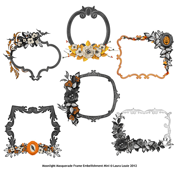 Also Available:  Moonlight Masquerade Embellishment Mini Frames