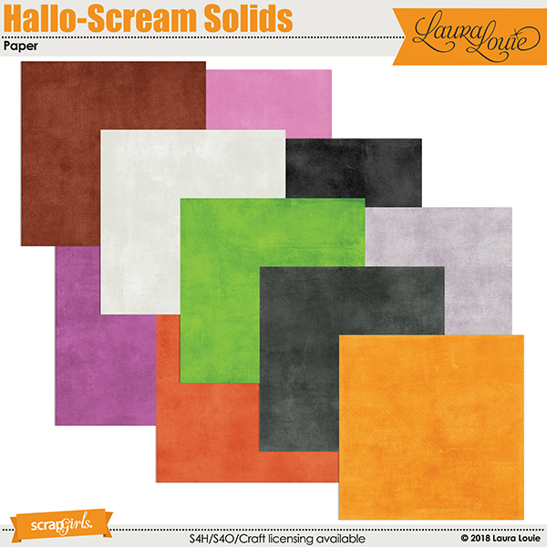 Hallo-Scream Solid Papers