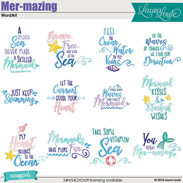 Mermazing WordArt