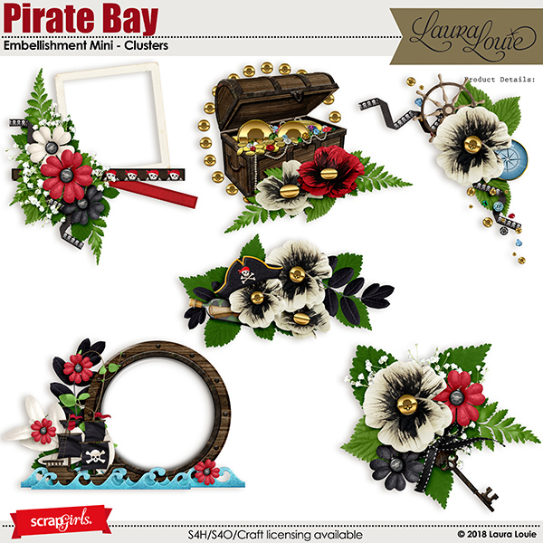 Pirate Bay Embellishment Mini - Clusters