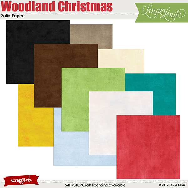 Woodland Christmas Solid Paper