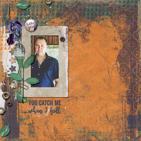 Digital layout using Value Pack Number 1 Dad by On A Whimsical Adventure