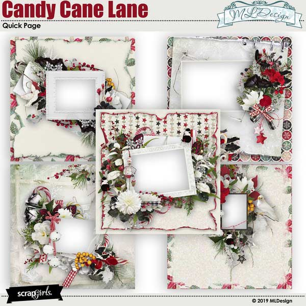 Candy Cane Lane Easy Page