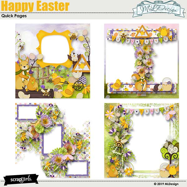 Happy Easter easy Pages