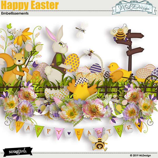 Happy Easter Embellishments