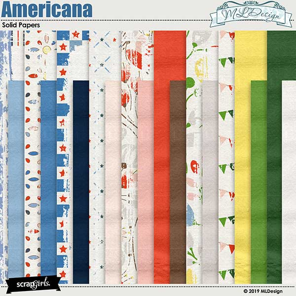 My Americana Solid Papers