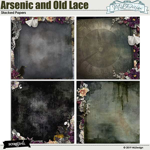 Arsenic and Old Lace stacked papers