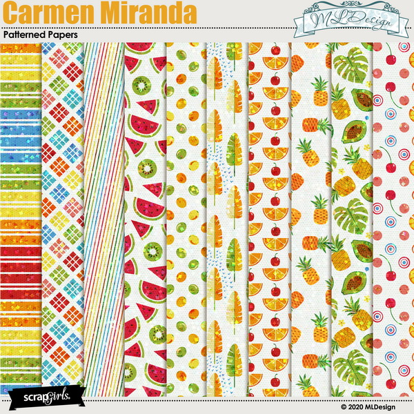 Camen Miranda Patterned Papers