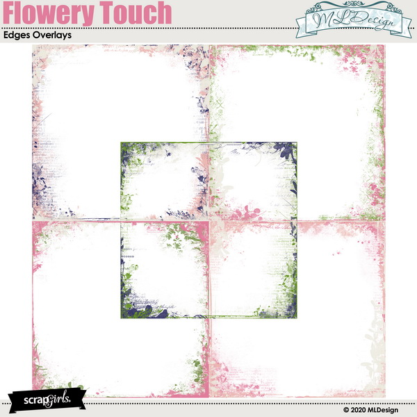 Flowery Touch Edges Overlays